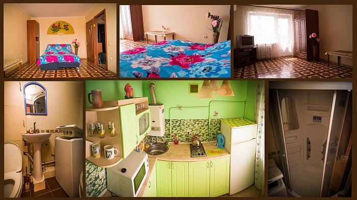 1-комнатная квартира посуточно в Симферополе. Центральный район, пер. Пионерский, 1. Фото 1