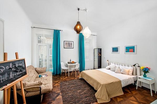 1-комнатная квартира посуточно в Львове. Галицкий район, ул. Поповича, 10. Фото 1