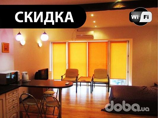 1-комнатная квартира посуточно в Днепропетровске. Кировский район, пр-т Кирова, 27д. Фото 1