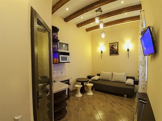 1-комнатная квартира посуточно в Львове. Галицкий район, ул. Кулиша, 13. Фото 1