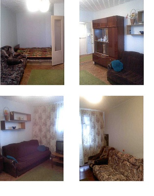 1-комнатная квартира посуточно в Евпатории. ул. 60 лет ВЛКСМ, 26а. Фото 1