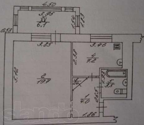 1-комнатная квартира посуточно в Миргороде. ул. Гоголя, 160. Фото 1