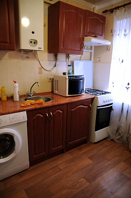 1-комнатная квартира посуточно в Донецке. Ворошиловский район, ул. Челюскинцев, 129. Фото 1