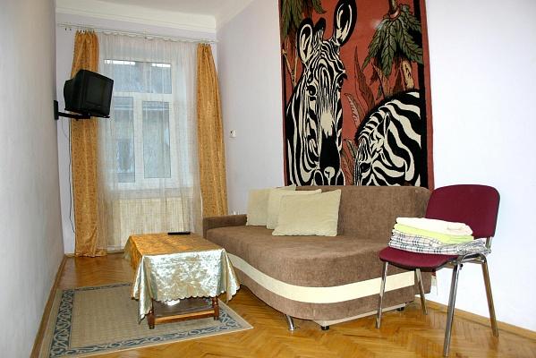 1-комнатная квартира посуточно в Львове. Зализнычный район, ул. Одесская, 17. Фото 1