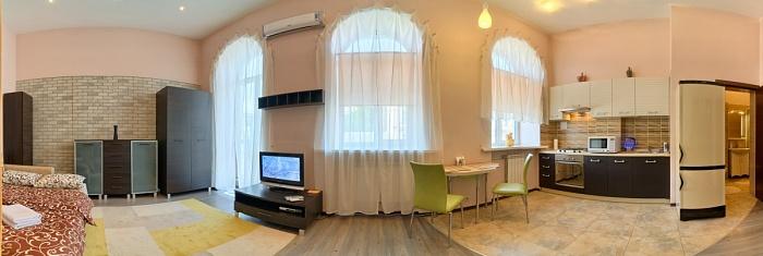 1-комнатная квартира посуточно в Киеве. Голосеевский район, ул. Саксаганского, 57. Фото 1