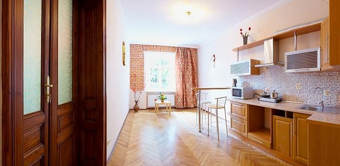 1-комнатная квартира посуточно в Львове. Галицкий район, ул. Винниченка, 26а. Фото 1