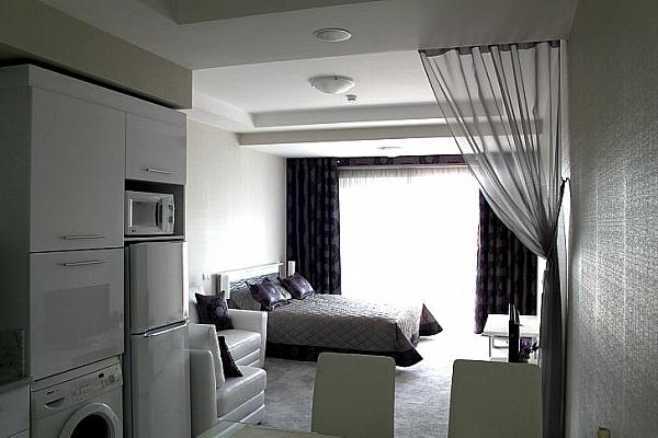 1-комнатная квартира посуточно в Алуште. ул. Краснофлотская, 1. Фото 1