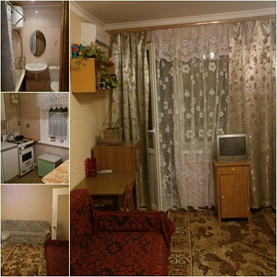 1-комнатная квартира посуточно в Саках. пгт.Новофедоровка, ул.Севастопольская, 19. Фото 1