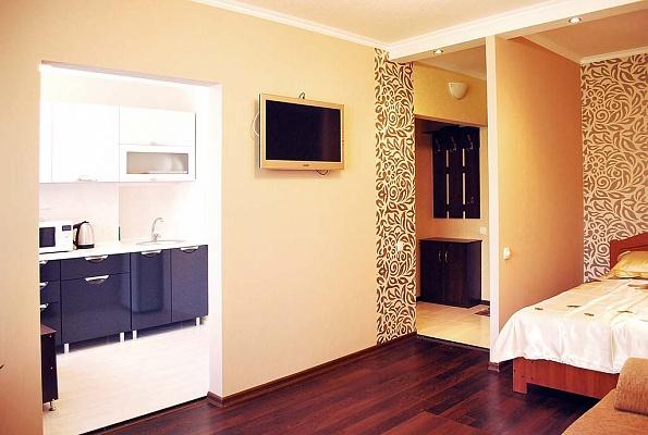 1-комнатная квартира посуточно в Донецке. Ворошиловский район, ул. Челюскинцев, 140. Фото 1