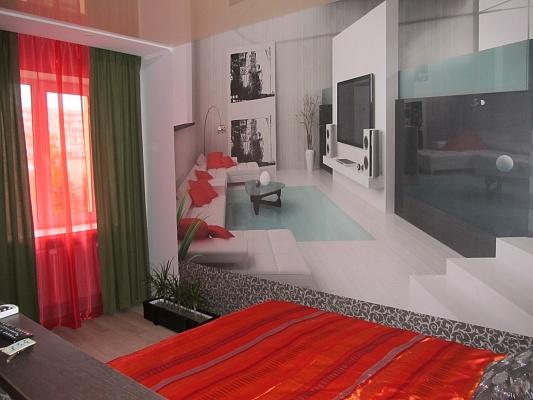 1-комнатная квартира посуточно в Сумах. Заречный район, пр-т М.Лушпы, 5. Фото 1
