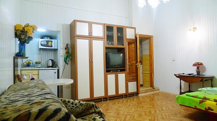 1-комнатная квартира посуточно в Симферополе. Центральный район, Гоголя, 13. Фото 1