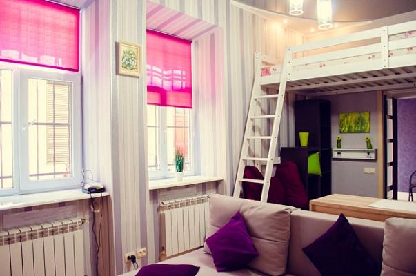 1-комнатная квартира посуточно в Львове. Зализнычный район, ул. Шевченко, 9. Фото 1