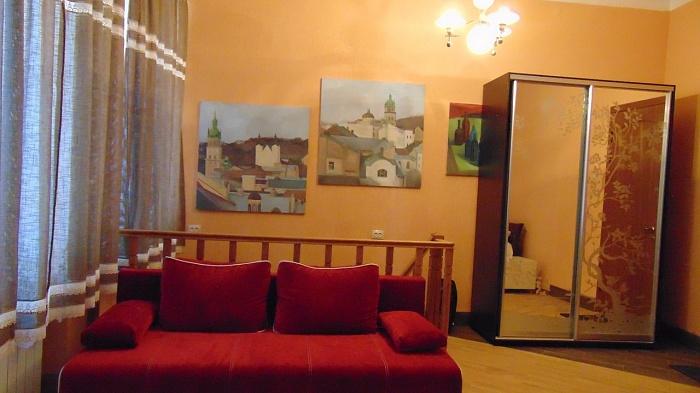 1-комнатная квартира посуточно в Львове. Галицкий район, ул. Брюллова, 8. Фото 1