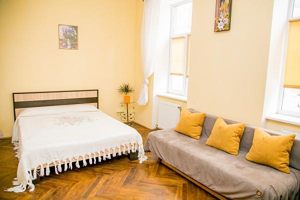 1-комнатная квартира посуточно в Львове. Железнодорожный район, ул. Голубовича, 48. Фото 1