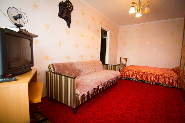 1-комнатная квартира посуточно в Днепропетровске. Октябрьский район, пр-т Гагарина, 105. Фото 1